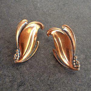Vintage 60's Copper Earrings